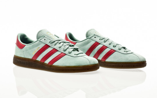 adidas Originals Munchen hazy green-wild pink-gold metallic