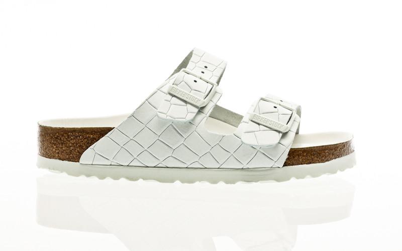 Birkenstock Arizona Le Mono Croc Hex white