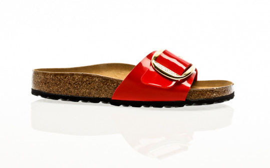 Birkenstock Madrid Big Buckle BF patent cherry