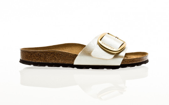 Birkenstock Madrid Big Buckle BF graceful pearl white