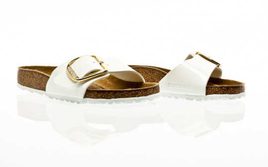 Birkenstock Madrid Big Buckle BF patent white