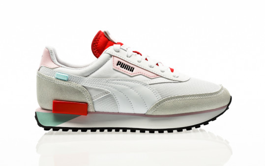 Puma Future Rider Neon Play puma white-poppy red