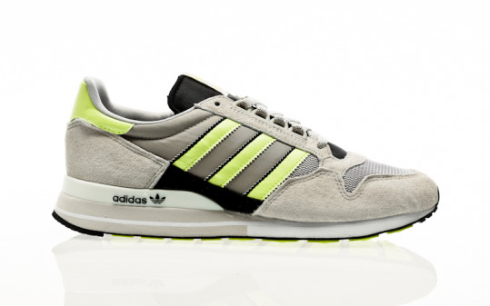 adidas Originals ZX 500 grey two-semi frozen yellow-core black