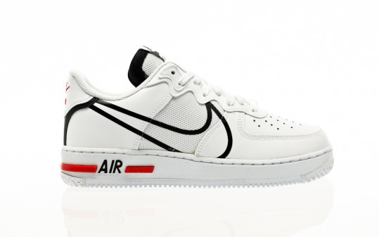 Nike Air Force 1 React white-black-university red