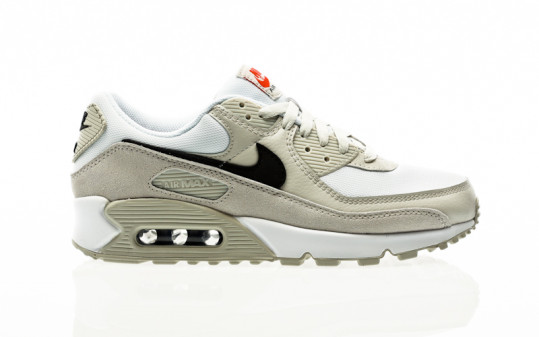 Nike Air Max 90 white-black-light bone-team orange