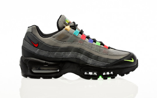 Nike Air Max 95 SE light charcoal-university red-black