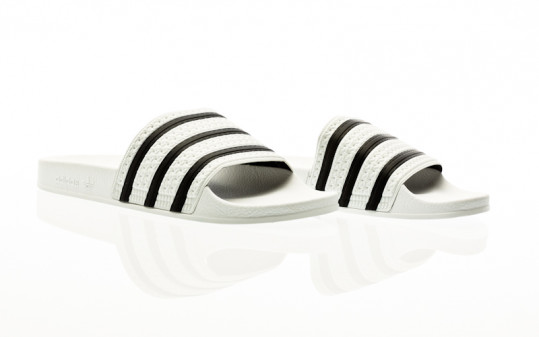 adidas Originals Adilette white-core black-white