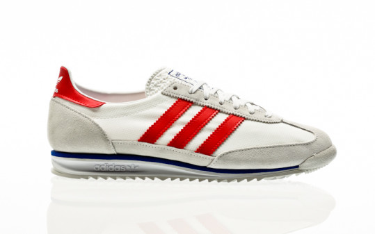 adidas Originals SL 72 grey one-footwear white-vivid red