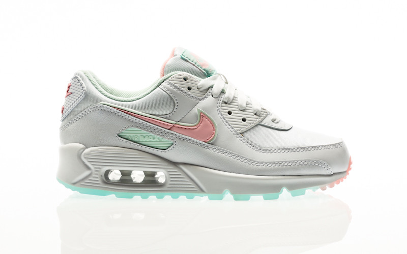 Nike W Air Max 90 white-arctic punch-barely green