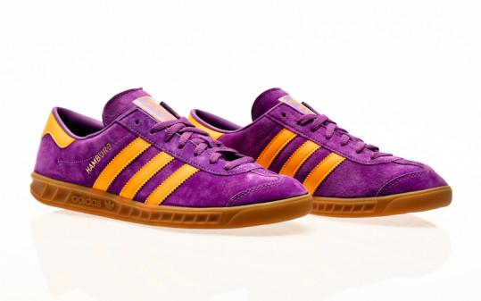 adidas Originals Hamburg active purple-semi solar gold-gum