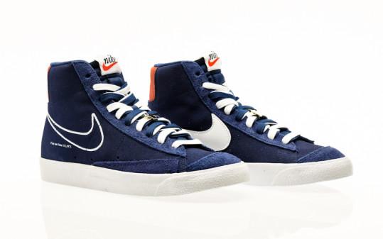 Nike Blazer Mid 77 deep royal blue-white-orange