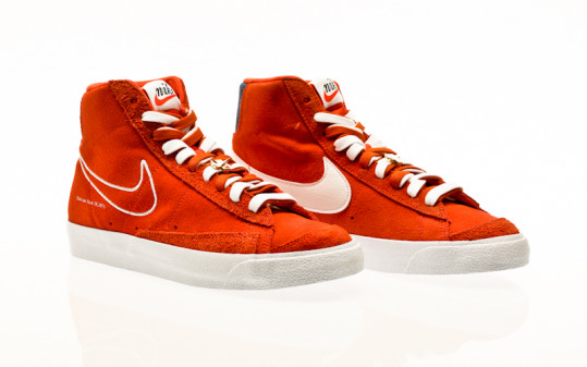 Nike Blazer Mid 77 orange-white-deep royal blue