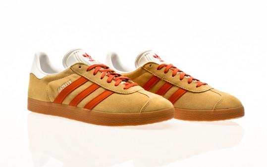 adidas Originals Gazelle hazy beige-fox orange-gum2