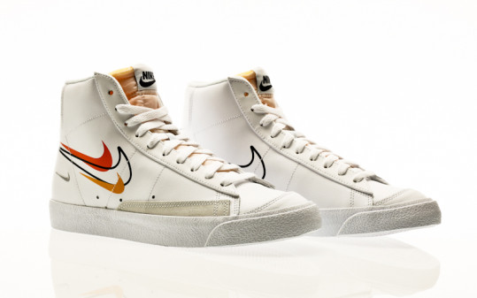 Nike Blazer Mid 77 white-black-team orange-university gold