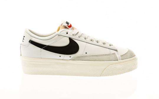 Nike Blazer Low Platform white-black-sail-team orange