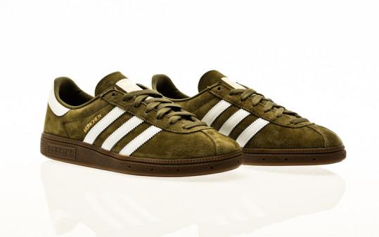 adidas Originals Munchen focus olive-footwear white-gold metallic