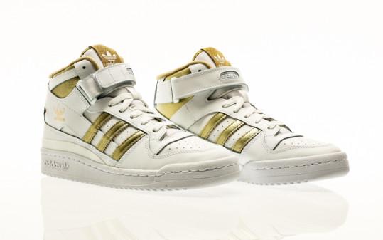 adidas Originals Forum Mid W footwear white-matte gold-beige tone