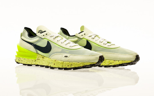 Nike Waffle One Crater lime ice-armory navy-volt-white