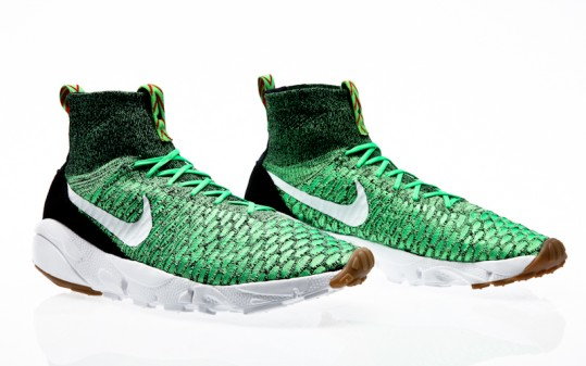 Nike Air Footscape Magista Flyknit poison green-white-university red-black