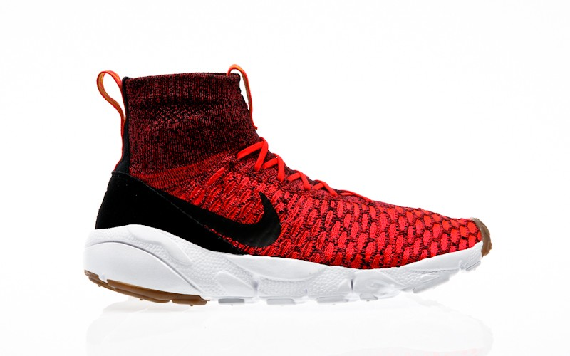Nike Air Footscape Magista Flyknit bright crimson-black-gold lead