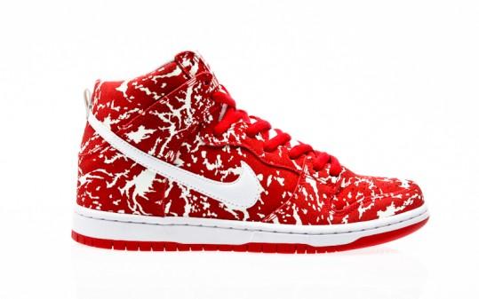 Nike SB Dunk High Premium challenge red-white-challenge red-white