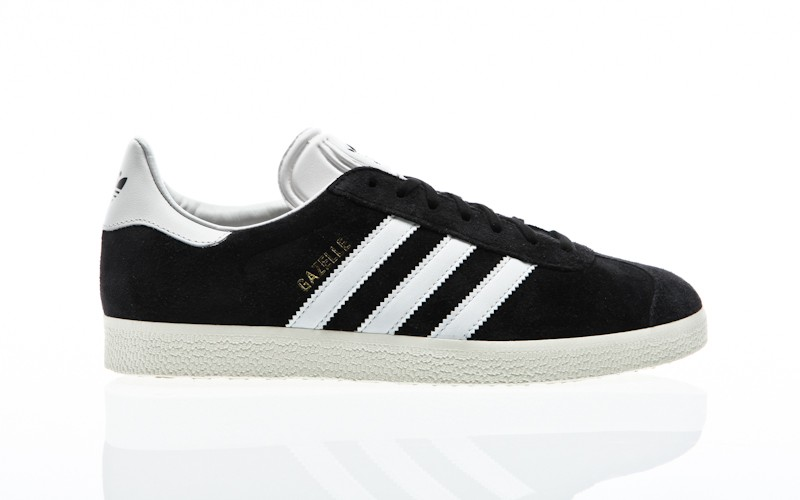 adidas Originals Gazelle core black vintage white gold metallic