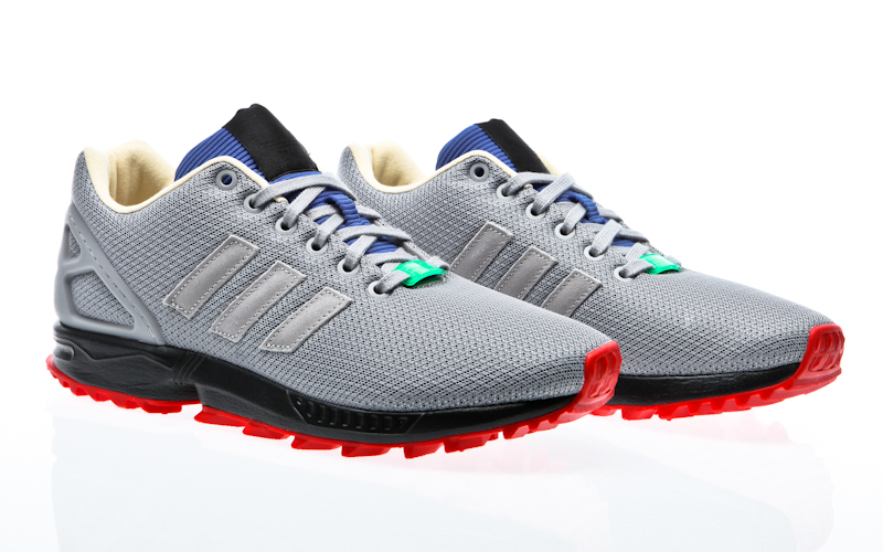 b7fb16f76ad6 Adidas ZX flux RS core black   flash lime periwinkle AF6341 sneaker shoes