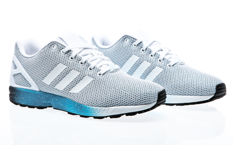 adidas ZX Flux Racer Asym gradient blue green ADV Asymmetrical Shoes Mens Running shoes S79056