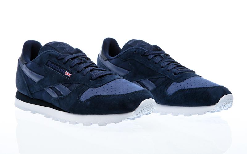 87331a7b6 Reebok CL cuero utilidad txt negro rojo estuco M44413 zapatillas zapatos