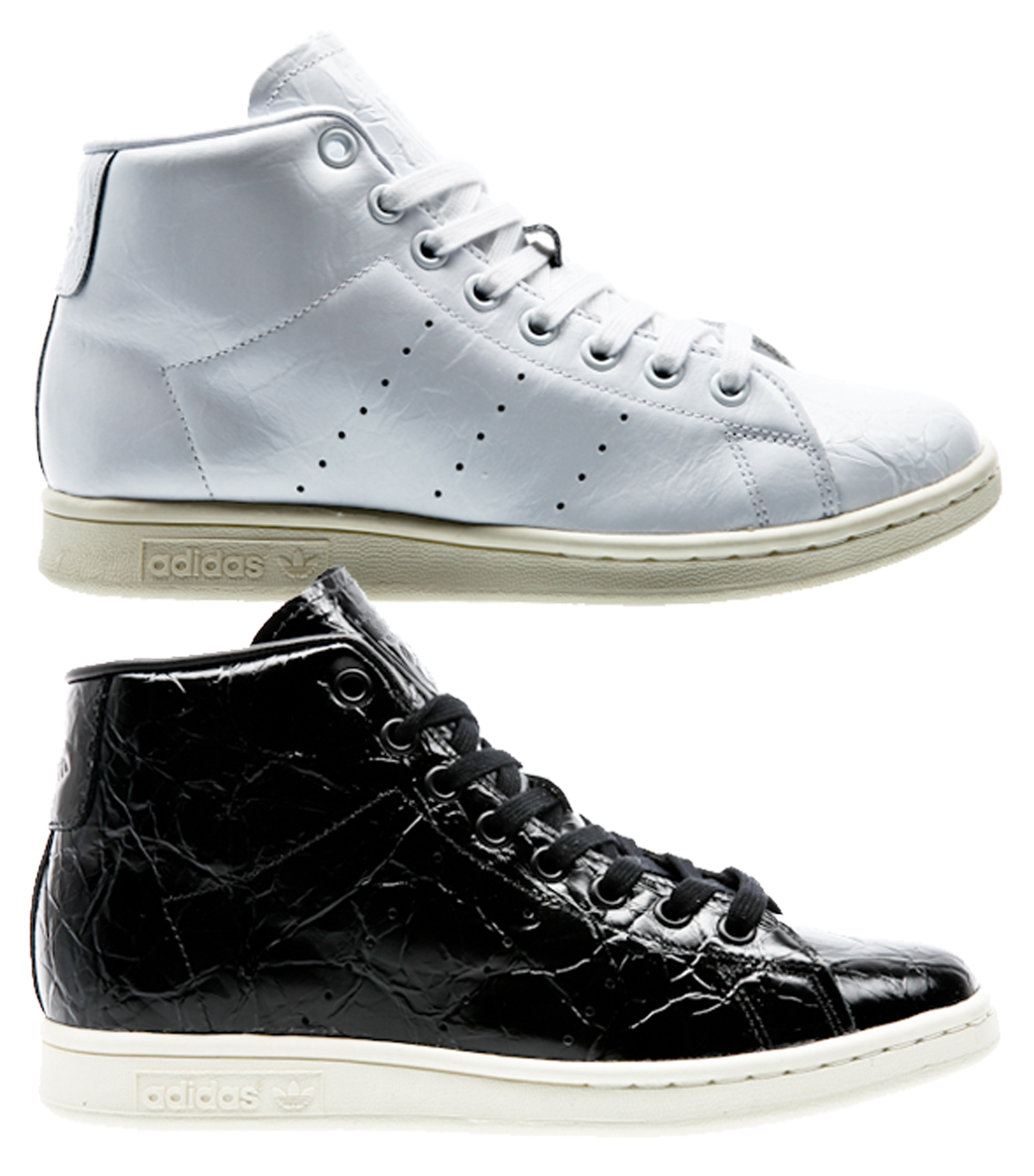 new styles c4c86 bfe97 zapatos Adidas Stan Smith Mid W blanco negro zapatillas de mujer