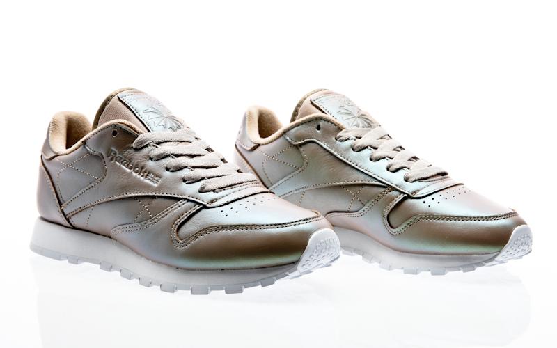 Détails sur Reebok Classic Cuir CL Lthr Spirit Baskets Femmes Femmes Chaussures