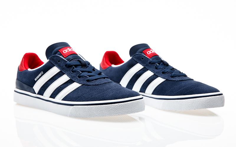 Adidas Busenitz Vulc Grey Blue Skate Shoes