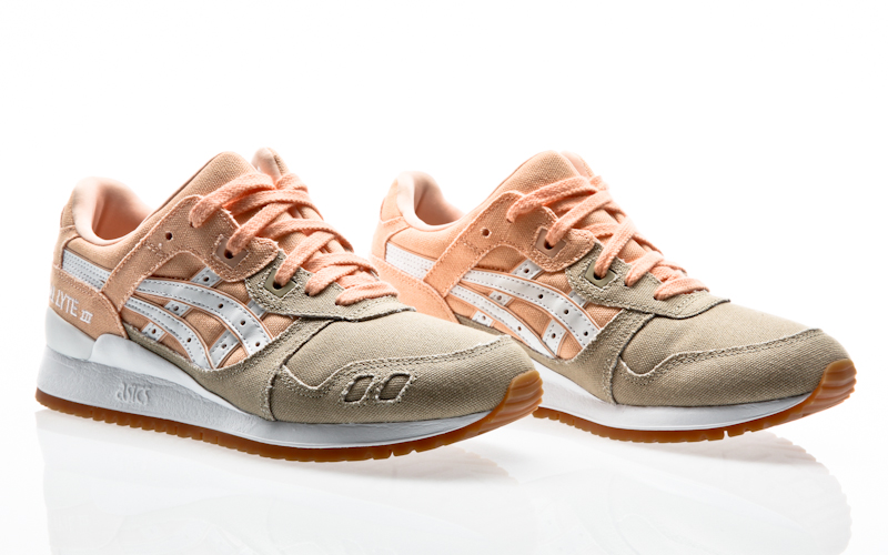 ASICS GEL LYTE III 3 Beige Baskets Femme Bleached Apricot Sneakers H7F9N 1701