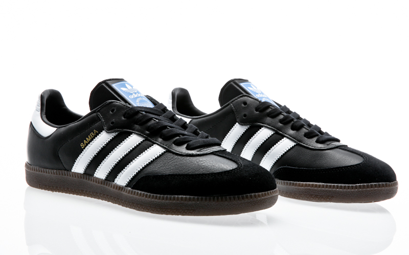 new arrival 54316 7eb35 Material leather, rubber. Adidas adidas 350 core blackoff white  gold  metallic S76213 sneaker shoes