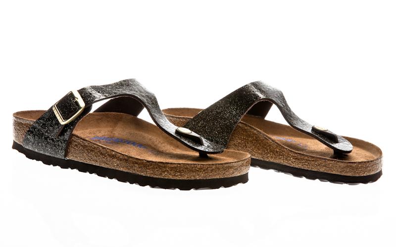 79819a9db6fc Birkenstock Gizeh Hex NL spotted metallic silver 1006743 Sandals Sandalen.  breites Fußbett (regular fit)