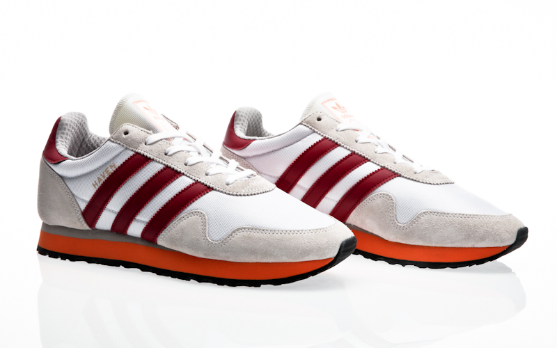 orange adidas trainers mens