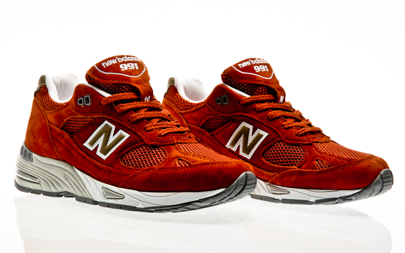 new balance 991 herren orange 42
